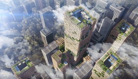 Sumitomo Forestry Co., Ltd. & Nikken Sekkei Ltd. - W350 project Changing cities into forests - Tokio