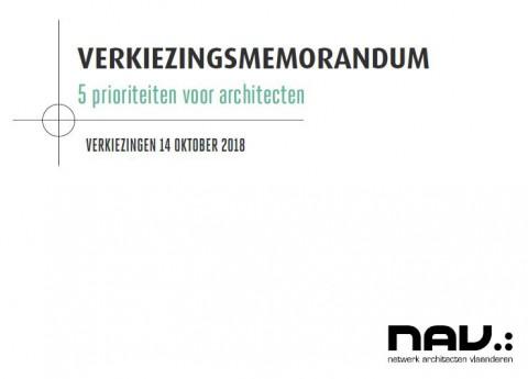 Verkiezingsmemorandum Netwerk Architecten Vlaanderen