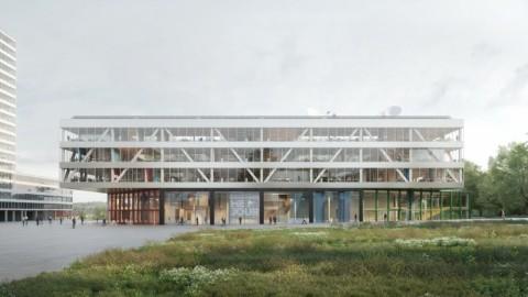 Bouwteam met OFFICE Kersten Geers David Van Severen en Jaspers-Eyers Architects ontwerpt compact, horizontaal nieuw VRT-gebouw